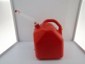 Scepter 5 Gallon Red Poly Plastic Gas Can Converted Vented Pre Ban W new Spout