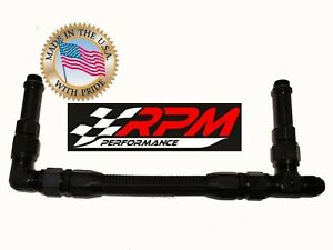 8an 8an Barry Grant Demon Carb Carburetor Fuel Line Black Braided Dual Feed F16