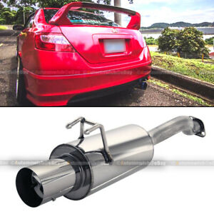 Fit 06 10 Civic 2 4 Dr Stainless Steel Axle Back Exhaust Muffler 4 Chrome Tip