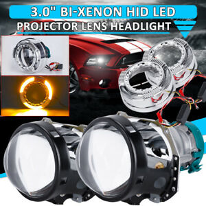 3 0 Bi Xenon For Hella Projector Lens D1s D2s D3s D4s Bulb Yellow Halo Shrouds