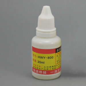 Hwy 800 Stainless Steel Flux Liquid Non toxic Replacement Solder Reliable 20 Ml