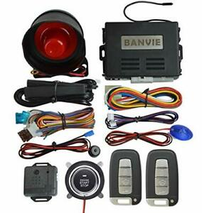 Banvie Pke Car Alarm System With Remote Engine Start And Push To Engine Start