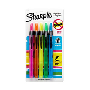 Sharpie Accent Retractable Assorted 5 Pack