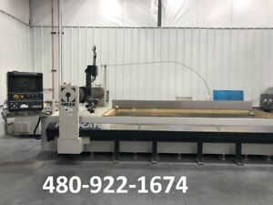 2008 Omax Fabricator Cnc Waterjet Cutting System 6x13 Table Size 30 Hp 50k Psi