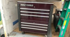 Mac Tool Slide Top 37 Wide 6 Drawer Box never Used In A Shop Black Cherry