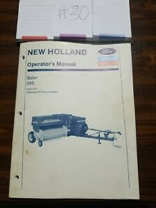 New Holland 565 Square Baler Operator s Manual