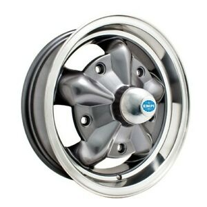 Torque Star Wheel Grey With Polished Rim 5 Wide 5 On 205m Dunebuggy Vw