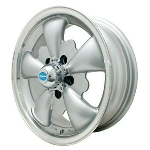 Gt 5 Wheel Silver With Polished Lip 5 5 Wide 5 On 112mm Dunebuggy Vw
