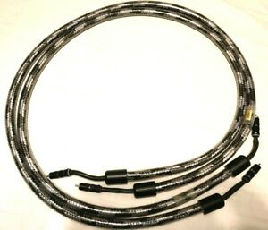 Straight Wire Crescendo 3 Rca Audio Interconnect Cable 2 Meter Pair Mint Cond