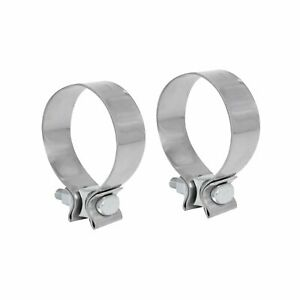 2pcs 2 5 2 1 2 Inch T409 Stainless Steel Narrow Band Exhaust Clamp Buckle Type