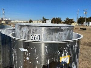 Used Stainless Steel Tank 260 Gallon 2 Open Top Vertical