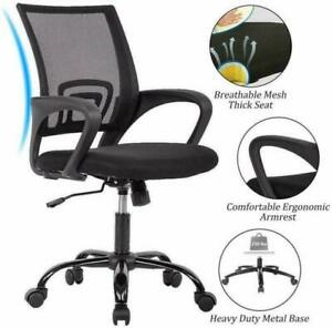 Mesh Office Chair Computer Executive Work Swivel Ergonomic Height Adjustable