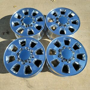 18 Chevy Silverado 8x6 5 Gmc Sierra 2500hd Factory Style Wheels Polished