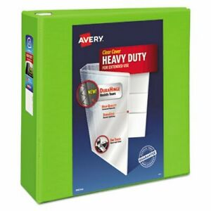 Avery Heavy duty View Binder W locking Ezd Rings 4 Cap Chartreuse ave79812
