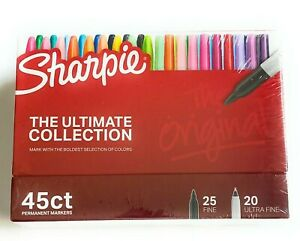 The Ultimate Collection 45 Asst Sharpie Fine Ultra Fine Point Perm Markers