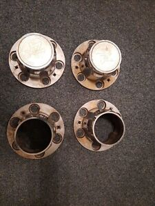 Chevy Truck Rally Wheel 4x4 Center Caps 6 Lug Set Of 4 Oem Metal