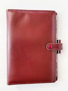 Filofax Leather Planner Lincoln Made In England 6 Ring Vintage 1989