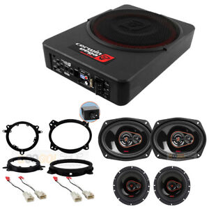Cerwin Vega 6x9 6 5 Speakers 10 Subwoofer Kit For 2005 2013 Toyota Tacoma