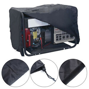 1pc Large Portable Generator Dustproof Waterproof Cover Protector Black Sheet
