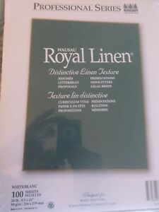 New Royal Linen White Stationery Resume Paper 8 5 X 11 24 Ea100 Sheet Package