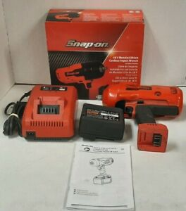 Snap On Ct9075wb 18v Monsterlithium Cordless Impact Wrench 1 Battery Charger
