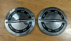 Original 1964 1960 s Ford Dog Dish Hubcaps Preowned Used Set Of 2