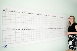 Dry Erase Wall Calendar Blank 12 Month Large Wall Calendar size 36 x96