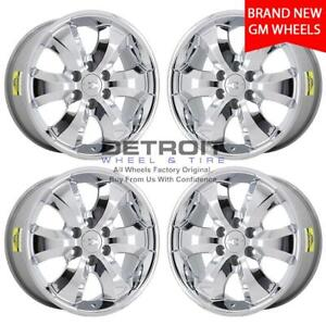 20 Chevrolet Silverado 1500 Chrome Wheels Rims Factory Oem 5261 1999 2018 Set