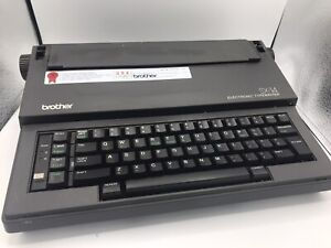 Brother Sx 14 Portable Electronic Typewriter Tested Works Cleaned Free Ship