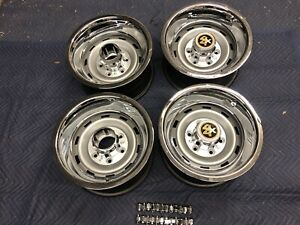 1967 72 87chevy Gmc Truck 4x4 6 Lug 15x10 Gm Original Truck Rally New Cap Rings