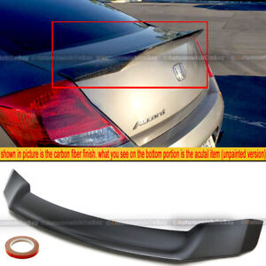 For 08 12 Accord 2dr Coupe Duckbill Highkick Unpainted Trunk Lip Wing Spoiler