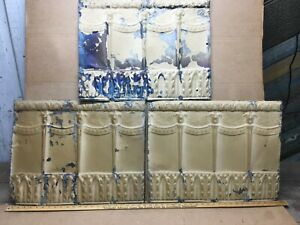 3pc 23 X 18 Pineapple Antique Ceiling Tin Vintage Reclaimed Salvage Art Craft