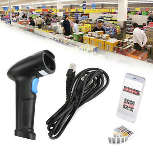 Automatic Usb Wired Barcode Scanner 2 In 1 1d 2d Code Reader Gun For Supermarket