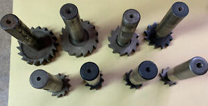 Lot Of 8 Used T Slot And Key Cutters 1 2 Shanks Various Diameters Thickness