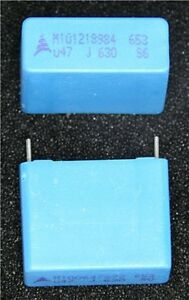 Epcos 0 47uf 630v Polyester Film Capacitor Pack Of 2
