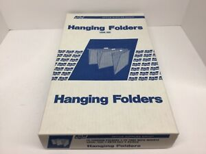 Hanging File Folders Tab Inserts Legal Size Standard Brown 25 Count