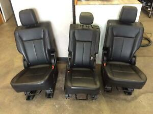 2019 Ford Expedition 2nd Row Rear Seat Set Black Leatherette Oem
