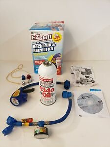 Id Ezchill Auto Air Conditioning Recharge Retrofit Kit 1 Can W Accessories
