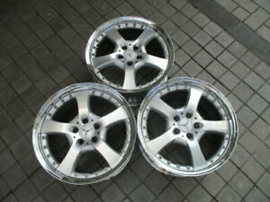 18 Lorinser Lm5 2pc Wheels Rims Set Of 3 5x112 Et38 Staggered Mercedes Used
