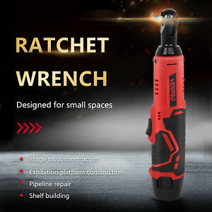 3 8inch 12v Electric Cordless Ratchet Right Angle Wrench Tool 2li ion Battery