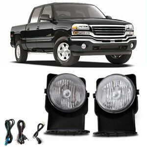 Bumper Mounted Fog Light Wiring Switch Bulb For 2006 Gmc Sierra 1500 Hd Crew Cab