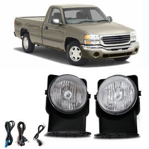 Clear Bumper Mounted Fog Lights Wiring Switch Bulbs Kit For 2003 Gmc Sierra 1500
