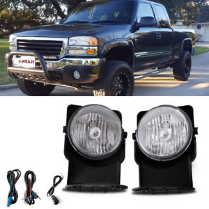 Clear Bumper Mounted Fog Lights Wiring Switch Bulbs Kit For 2004 Gmc Sierra 1500