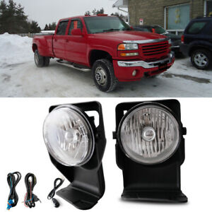 Bumper Mounted Fog Lights Wiring Switch Bulb For 2004 Gmc Sierra 3500 Super Duty