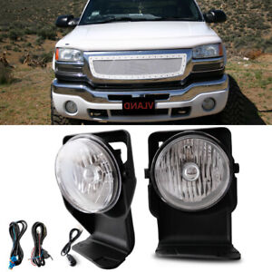 Bumper Mounted Fog Lights Wiring Switch Bulb For 2005 Gmc Sierra 3500 Super Duty