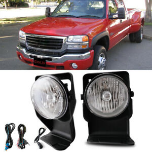 Bumper Mounted Fog Lights Wiring Switch Bulb For 2006 Gmc Sierra 3500 Super Duty