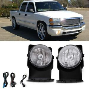 Bumper Mounted Fog Light Wiring Switch Bulbs For 2007 Gmc Sierra 1500 Classic