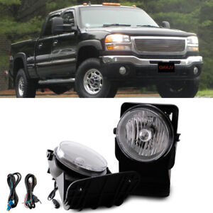 Clear Bumper Mounted Fog Lights Wiring Switch Bulbs For 2003 Gmc Sierra 2500 Hd
