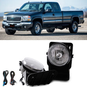 Clear Bumper Mounted Fog Lights Wiring Switch Bulbs For 2004 Gmc Sierra 2500 Hd