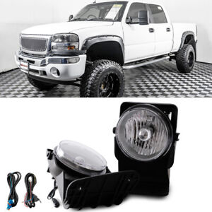 Clear Bumper Mounted Fog Lights Wiring Switch Bulbs For 2006 Gmc Sierra 2500 Hd